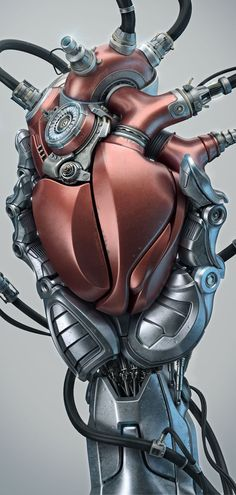 Heart - a computer generated robotic heart by Aleksandr Kuskov, via Behance