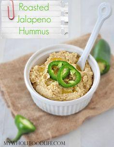 Roasted Jalapeno Hummus - My Whole Food Life