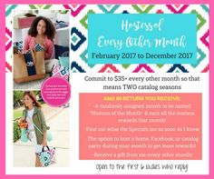 Anyone interested in joining my Hostess of the Month Group? We'll be shopping every other month, thru 2 catalogs!! It's a great way to stock up on gifts for friends and family (and yourself:)! Contact me for details! #ThirtyOneGifts #ThirtyOne #JewellByThirtyOne #JKbyThirtyOne #Monogramming #Organization