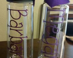 Personalized Water Bottles, Customer Gift, Office Gift, Children Gift, Personalized Gift by paolabrownshop. Explore more products on http://paolabrownshop.etsy.com