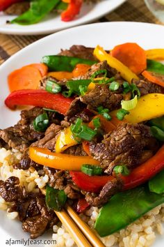Beef Teriyaki and Vegetables - A delicious and easy meal! And it's so good…