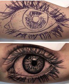 ideas eye tattoo ideas ink black for 2019 Skull Tattoos, Body Art Tattoos, Hand Tattoos, Sleeve Tattoos, Eye Tattoos, Iris Tattoo, Lion Tattoo, Tattoo Ink, Black Art Tattoo