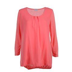 Damen Materialmix Shirt mit Chiffon