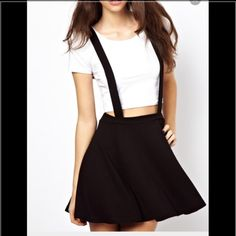 Cute suspender skater skirt adorable skater suspender skirt. Previously loves ❤️ ask me about cheaper shipping Forever 21 Skirts Circle & Skater
