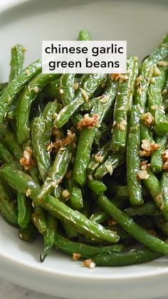 Side Dish Recipes, Vegetable Recipes, Asian Recipes, Vegetarian Recipes, Cooking Recipes, Healthy Recipes, Easy Side Dishes, Chinese Garlic Green Beans, Chinese Buffet Green Beans