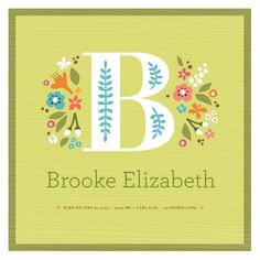 personalized storybook initial print by jennifer wick