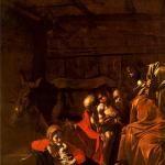 "Caravaggio, ""Adoration of the Shepherds"" (1609 c.)."