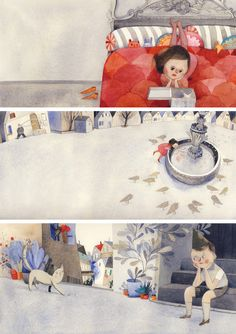 Illustration by Isabelle Arsenault. Art And Illustration, Illustrations And Posters, Character Illustration, Graphic Design Illustration, Collages, Art For Kids, Book Art, Character Design, Drawings
