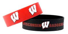 Wisconsin Badgers Bracelets - 2 Pack Wide