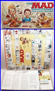 Vintage MAD MAGAZINE Board Game by Parker Brothers