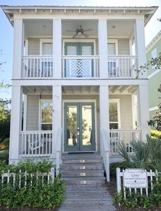 exterior beach house colors in Seagrove Beach, Florida – rent today! exterior beach house colors in Seagrove Beach, Florida – Beach Cottage Style, Beach Cottage Decor, Coastal Decor, Beach Cottage Exterior, Coastal Cottage, Style At Home, Exterior House Colors, Exterior Design, Exterior Paint