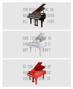 Taylor's tour pianos. Fearless : You're Not Sorry, Speak Now : Back To December/Apologize/You're Not Sorry, Red : All Too Well.