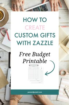Are you interested in making money online by designing and selling products on Zazzle? Zazzle allows you to create custom gifts for your business, website or family in minutes. You can make t-shirts, mugs, journals, and more without any design skills. Start making extra money now or send loved ones a gift designed for them. Save to read later or click through now. Comes with an FREE Budget Printable #making money online #selling products on Zazzle