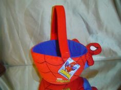 Spiderman back to schoool candy or carryall basket by LONLAR803, $36.00