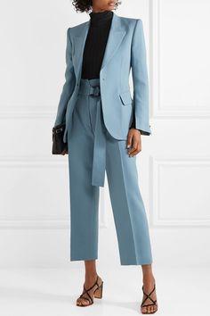 Black merino wool Slips on merino wool Hand wash Lawyer Fashion, Office Fashion, Work Fashion, Suit Fashion, Fashion Outfits, Womens Fashion, Karen, Professional Outfits, Mode Outfits