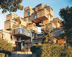 Moshe Safdie's Habitat 67 apartments in Montreal, Canada.