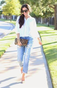 Topshop White Oversize Crinkle Button Down