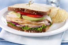 Turkey Sandwich | #lunch #turkey #sandwich #avocado #tomato #JennieO | https://www.jennieo.com/recipes/802-Turkey-Sandwich