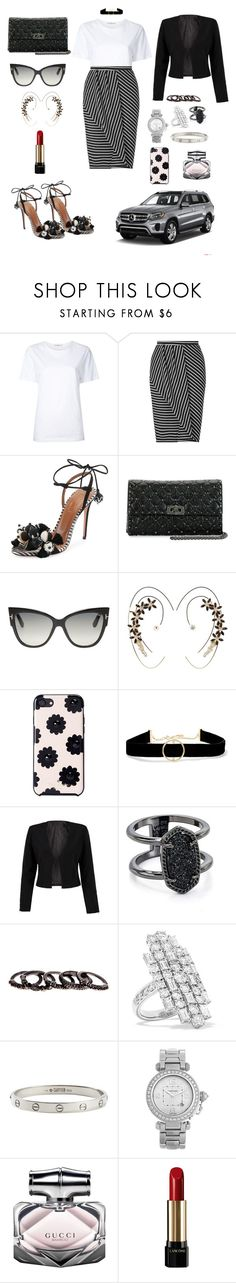 """""""Untitled #265"""" by alessian ❤ liked on Polyvore featuring Astraet, Miss Selfridge, Aquazzura, Valentino, Tom Ford, Charlotte Russe, Kate Spade, Anissa Kermiche, WithChic and Kendra Scott"""