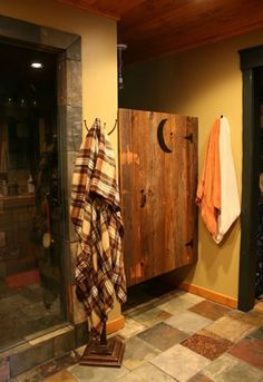Outhouse inside bathroom
