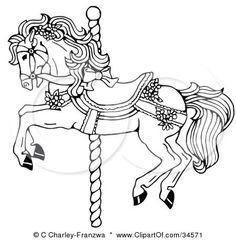 carousel cartoon hourses - Google Search