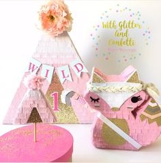 Boho Birthday Party Pinata Boho Party Collection Original Design by With Glitter & Confetti Party Boutique https://www.etsy.com/shop/withglitternconfetti