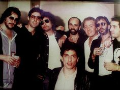 Where and when was this taken? My guess would be late 1980. This is obviously backstage at a Bruce Springsteen concert as there are 4 E-street band members present and Jim Keltner is wearing a backstage pass for 'The River' tour. Anybody got more info or a better copy?Jim Keltner, Max Weinberg, Bob Dylan, Roy Bittan, Danny Federici, Ringo Starr, Garry Tallent, Bruce Gary