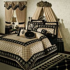 Red Black and Gold Bedding | Onyx Empire Comforter Bedding