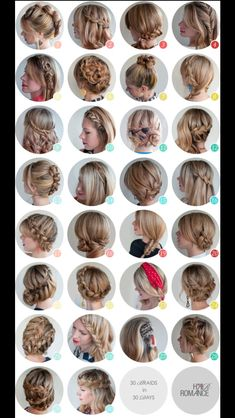 30 different hairstyles