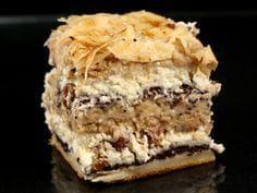 Prajitura prajiturilor - indeed, in Romanian, the cake of cakes Romanian Desserts, Russian Desserts, Romanian Food, Cake Recipes, Dessert Recipes, Delicious Deserts, Square Cakes, Sweets Cake, Dessert Drinks