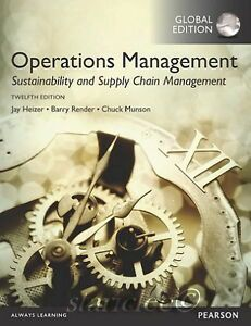 Operations management : sustainability and supply chain management / Jay Heizer, Barry Render, Chuck Munson Essex : Pearson Education, Sell Textbooks, Cost Accounting, Process Control, Supply Chain Management, Operations Management, Always Learning, Audio Books, Sustainability, Jay