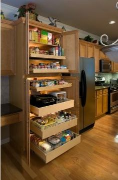 Pull out pantry shelving