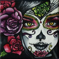 sugar skull  http://img.loveitsomuch.com/uploads/201212/19/da/day%20of%20the%20dead%20%20art%20rockabilly%20pin%20up%20girl%20hair%20dia%20de%20los%20muertos%20%20lowbrow%20tattoo%20art%20print%2012%20by%20-f15155.jpg