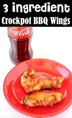 Crockpot Chicken Wings Recipes - Easy Quick Prep BBQ Coca Cola Wings! These tasty BBQ Coke Wings are perfect for Game Day kickoff or any party. They take hardly any prep and you'll only need to round up 3 ingredients. Go grab the recipe and give them a try this week! Easy Summer Meals, Quick Easy Meals, Summer Recipes, Yummy Appetizers, Appetizer Recipes, Snack Recipes, Easy Chicken Wing Recipes, Delicious Crockpot Recipes, Game Day Food