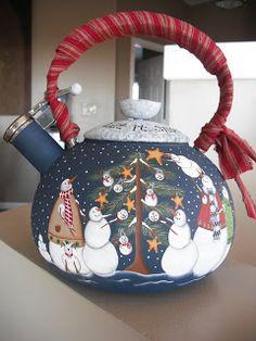 Snowman tea kettle