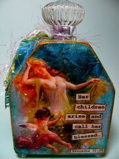 Mixed-Media Original Perfummie, inspirational, unique and beautiful by Debbie Saenz on Etsy