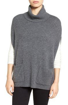 Halogen® Knit Cashmere Turtleneck Poncho available at #Nordstrom