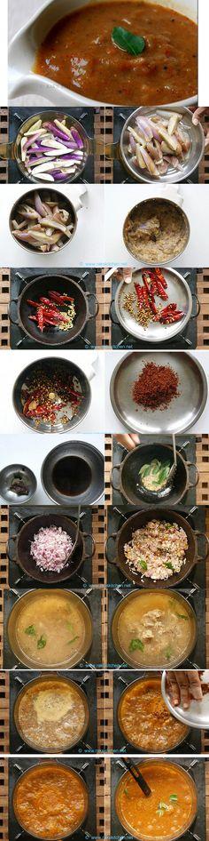 South Indian chidambaram brinjal gothsu recipe, side dish for idli, dosa