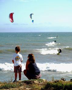 Kite surfing in Ventura, by Julie White.
