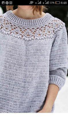 Fabulous Crochet a Little Black Crochet Dress Ideas. Georgeous Crochet a Little Black Crochet Dress Ideas. Gilet Crochet, Crochet Jumper, Black Crochet Dress, Crochet Coat, Crochet Cardigan, Crochet Clothes, Crochet Stitches, Crochet Sweaters, Chat Crochet