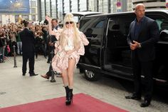Lady Gaga arrives in Berlin at her hotel Ritz Carlton