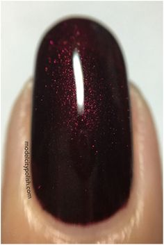 Girly Bits Cosmetics- I am Calm!! Deep wine red with pink shimmer.
