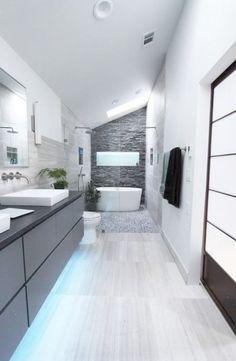 Beautiful Modern Bathroom [ Sliding-doors-hardware.com ] #bathroom #hardware #slidingdoor