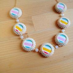 リバーシブル春色•夏色ネックレス(メガネ留めのしかた) アクセサリー Accessories