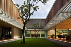 Modern atrium floorplan
