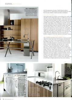 Isola Cross kitchen designed by Ludovica and Roberto Palombo, available at Laurence Pidgeon laurencepidgeon.com Essential Kitchen Bathroom Bedroom March 2014