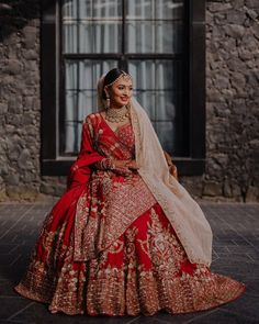 Looking for Bridal Lehenga for your wedding ? Dulhaniyaa curated the list of Best Bridal Wear Store with variety of Bridal Lehenga with their prices Indian Bridal Outfits, Indian Bridal Lehenga, Indian Bridal Wear, Indian Dresses, Bridal Dresses, Indian Wear, Red Lehenga, Lehenga Dupatta, Bollywood Lehenga