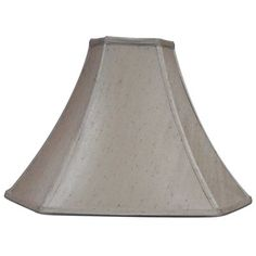allen + roth 11.5-in x 16-in Silken Toast Fabric Bell Lamp Shade
