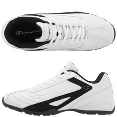 """This quality Champion sneaker features a durable faux leather upper with laces for a great fit, breathable mesh lining, padded collar, tongue and insole for comfort, and a lightweight,... More Details Champion Sneakers, Cleats, Leather, Men, Shopping, Shoes, Style, Fashion, Football Boots"