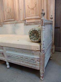 19th century swedish sofa with original paint finish c.1840